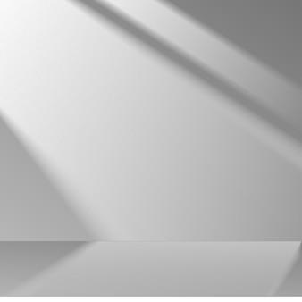3d gray stage background product showcase display cena do pódio com sombra suave. ilustração vetorial