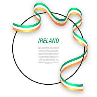 3d irlanda com a bandeira nacional.