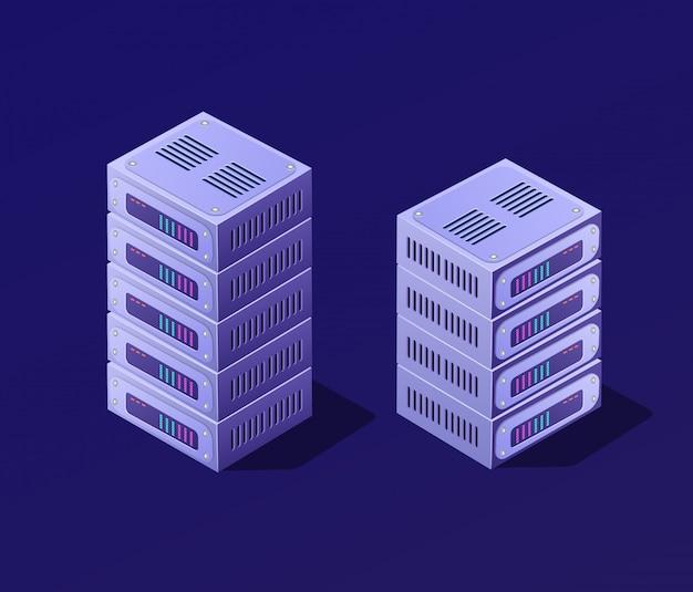 3d isométrico set blockchain