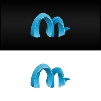 3d letter m logo download grátis