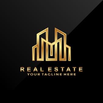 3d, logotipo imobiliário de luxo.