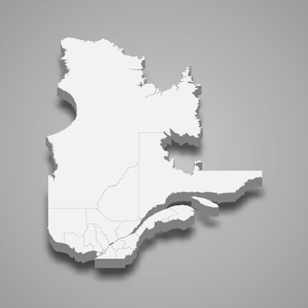 3d map province of canada