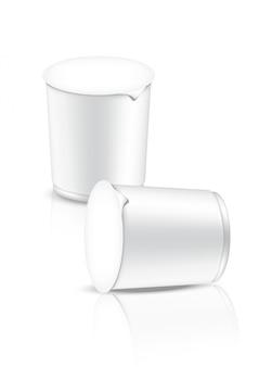 3d mock up realistic design quente xícara macarrão