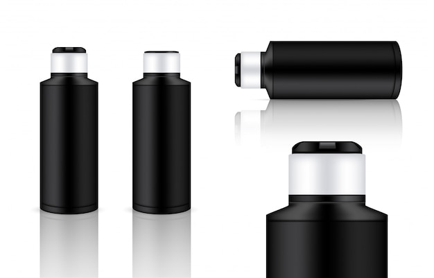 3d mock up realistic plastic bottle embalagem produto