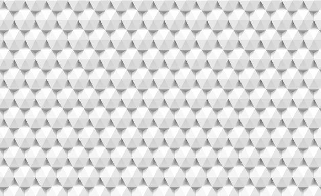 3d papel triângulos e hexágonos sem costura padrão. abstrata geométrica textura de triangular.