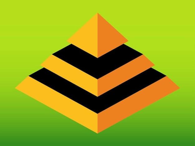 3d pirâmide arquitetura geométrica