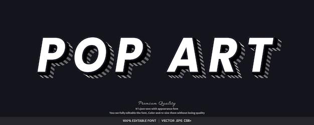 3d pop art - efeito de estilo de fonte