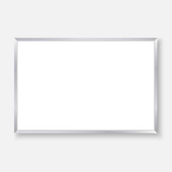 3d realista quadro vazio com marcadores de cor, fundo de quadro branco