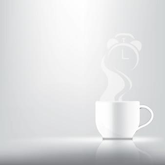 3d realista uma xícara de café, chá