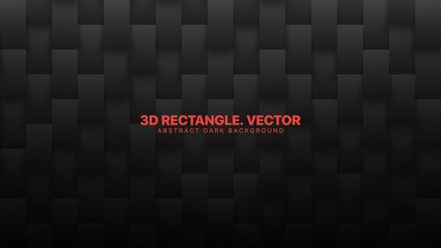 3d retângulos padrão fundo abstrato preto conceitual