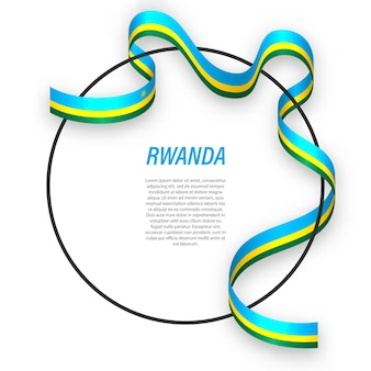 3d ruanda com a bandeira nacional.