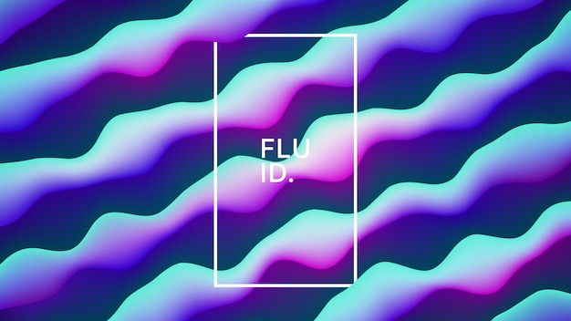 3d vector fluid design fundo abstrato azul