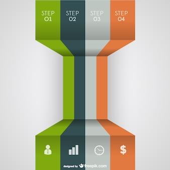 3d vector rótulos livres infográfico
