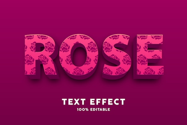 3d vermelho com efeito de texto padrão rosa