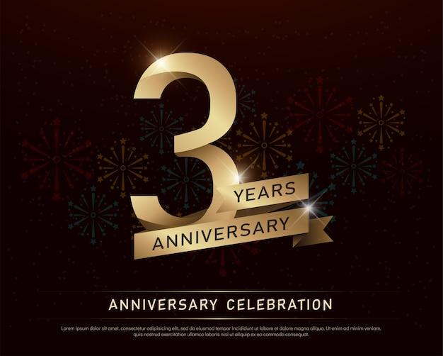 3o aniversário de aniversário número de ouro