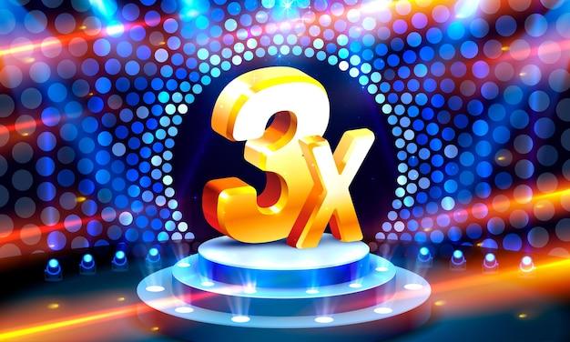 3x promoção de banner vencedor