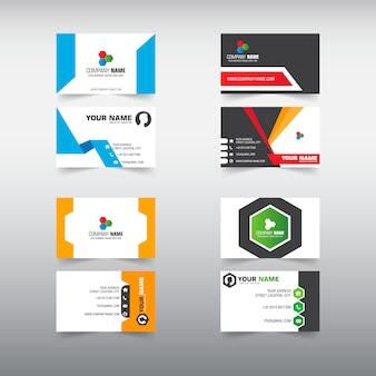 4 conjunto de modelo de cartão de visita