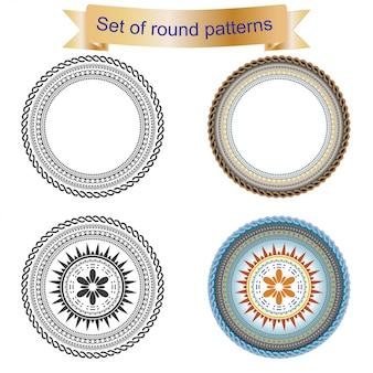 4 conjunto de padrão redondo