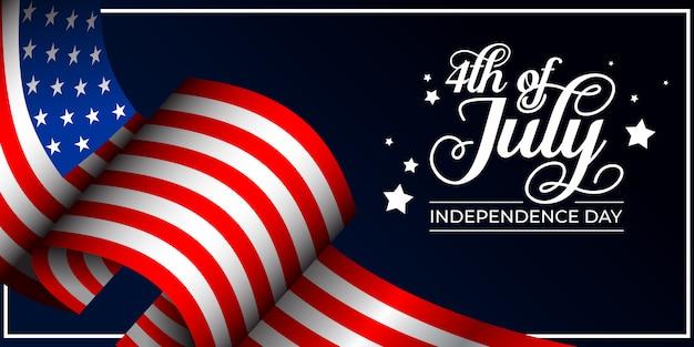 4 de ilustração de fundo de dia da independência de julho
