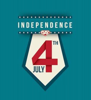 4 de julho bandeira do dia da independência