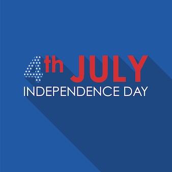 4 de julho bandeira plana de conceito.