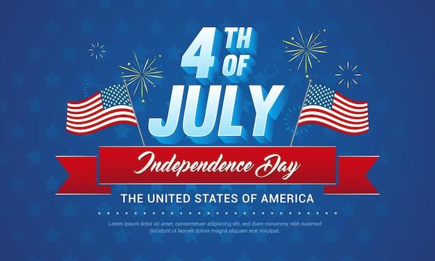 4 de julho cartão comemorativo