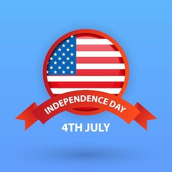 4 de julho, cartão de dia da independência dos estados unidos