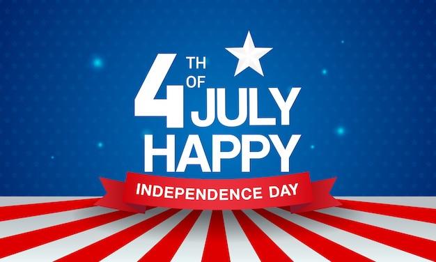 4 de julho cartão de saudação. vetor do dia da independência