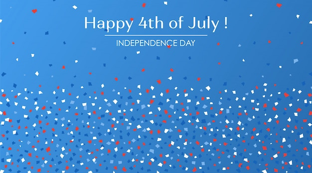 4 de julho cartão festivo.