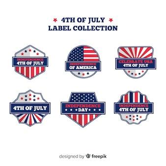 4 de julho coleção de crachá