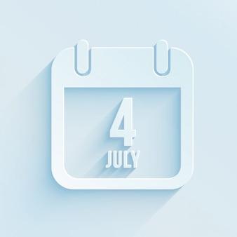 4 de julho de calendário