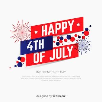 4 de julho de fundo festivo