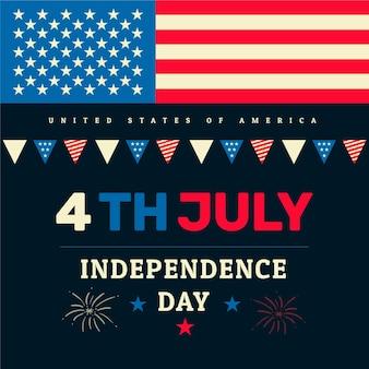 4 de julho design plano de celebração