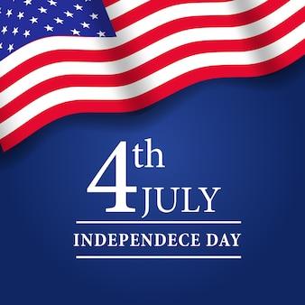 4 de julho dia da independência americana com a bandeira da américa