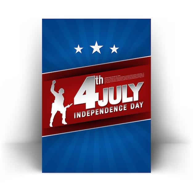 4 de julho dia da independência cartaz
