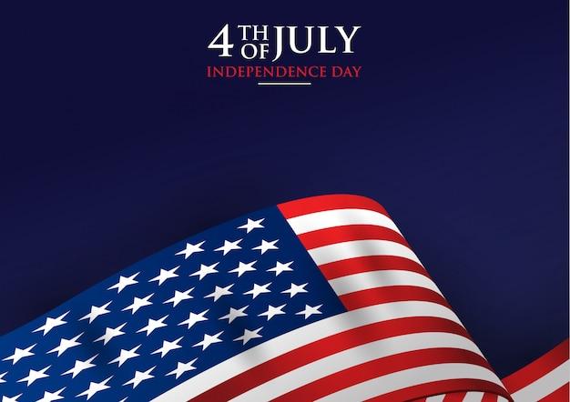 4 de julho dia da independência com a bandeira americana