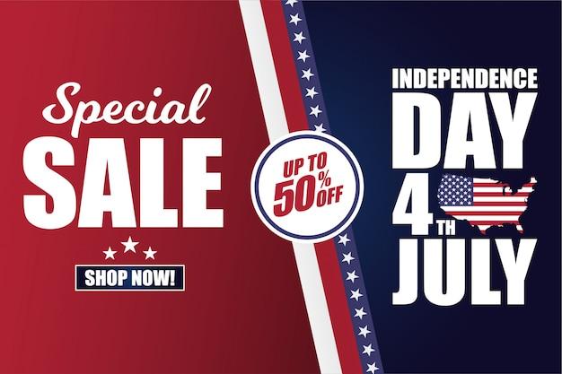 4 de julho dia da independência dos eua banner