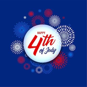 4 de julho, dia da independência, fundo de fogos de artifício