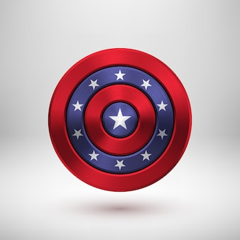 4 de julho distintivo do dia da independência com textura de metal