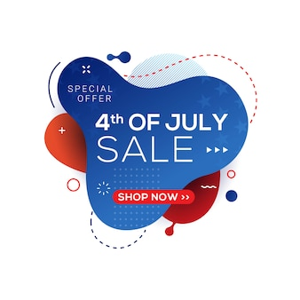 4 de julho eua bandeira de venda do dia da independência