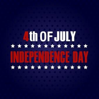 4 de julho. Feliz dia da independência cartão.