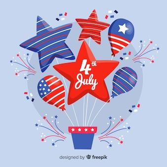 4 de julho - fundo de balão do dia da independência