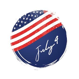 4 de julho fundo de bandeira dos eua. cartaz do dia da independência da américa. celebração da independência americana.