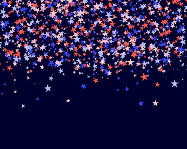 4 de julho fundo feito de estrelas