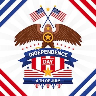 4 de julho - ilustração do dia da independência