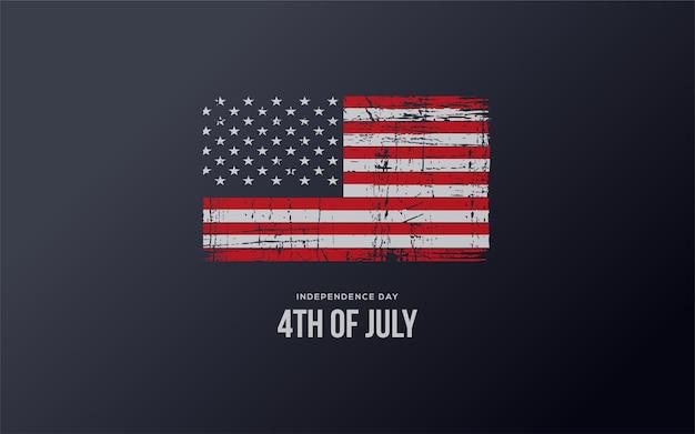 4 de julho independência americana com a bandeira americana