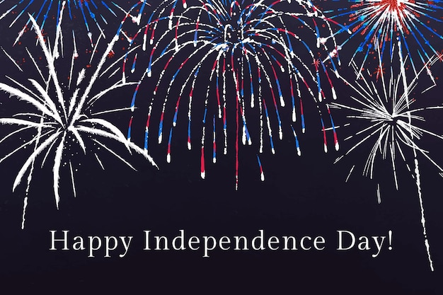 4 de julho modelo vetorial para banner com texto editável, feliz dia da independência