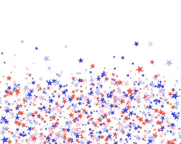 4 de julho padrão feito de estrelas
