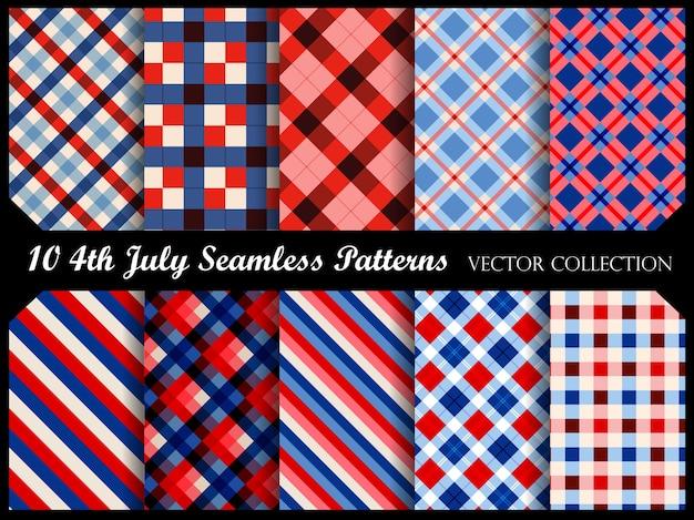 4 de julho padrões sem emenda patrióticos