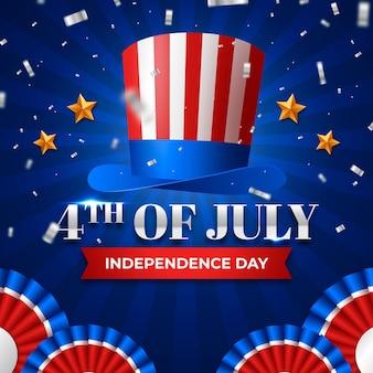 4 de julho realista - fundo de balões do dia da independência